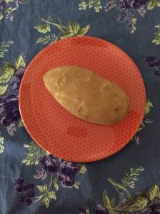 Ask students if this potato is right for the fudge. (Photo by K.Nollet, 2015)