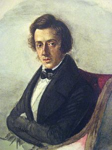 Chopin as painted by his once-fiancé, Maria Wodzinska.